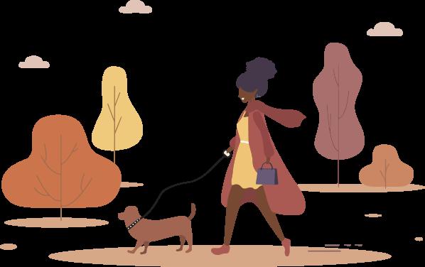 woman w dog